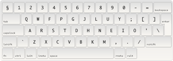 Colemak keyboard layout