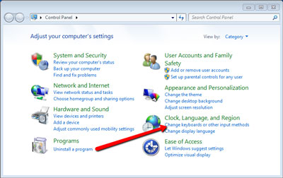 How to change your keyboard layout on Windows 7 - The Typing Cat