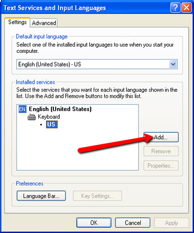 How to change your keyboard layout on Windows XP - The